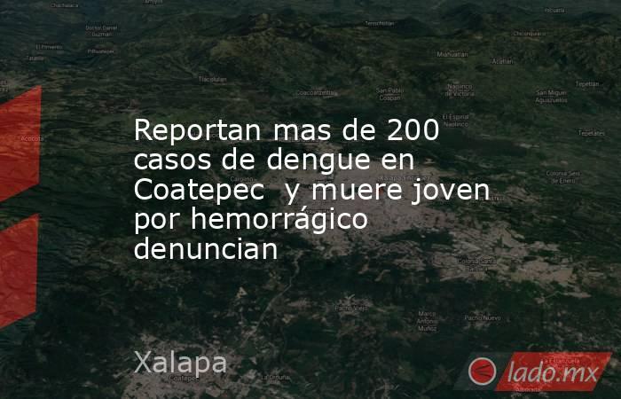 Reportan mas de 200 casos de dengue en Coatepec  y muere joven por hemorrágico denuncian. Noticias en tiempo real