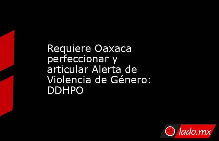 Requiere Oaxaca perfeccionar y articular Alerta de Violencia de Género: DDHPO. Noticias en tiempo real