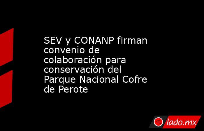 SEV y CONANP firman convenio de colaboración para conservación del Parque Nacional Cofre de Perote. Noticias en tiempo real