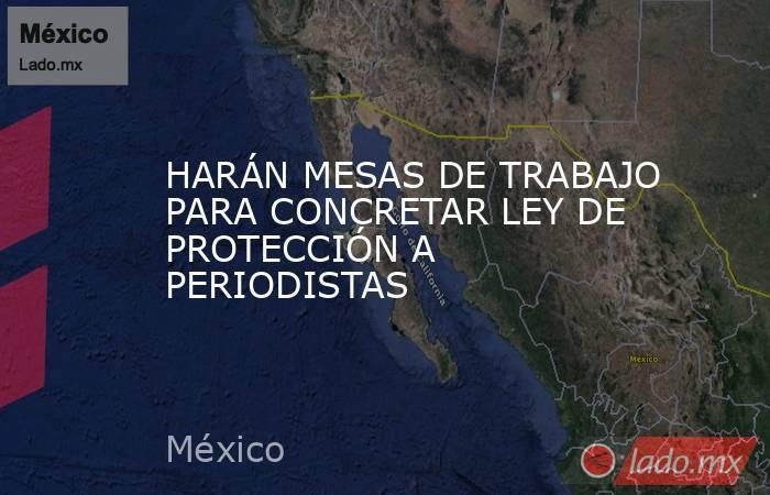 HARÁN MESAS DE TRABAJO PARA CONCRETAR LEY DE PROTECCIÓN A PERIODISTAS. Noticias en tiempo real