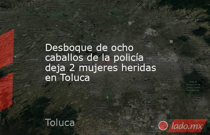 Desboque de ocho caballos de la policía deja 2 mujeres heridas en Toluca. Noticias en tiempo real