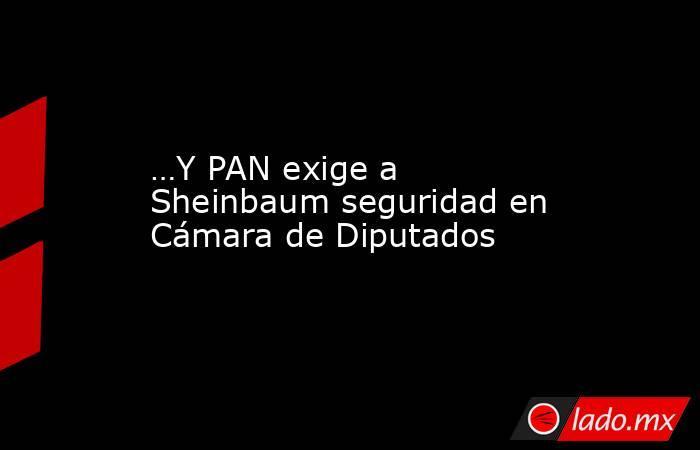 …Y PAN exige a Sheinbaum seguridad en Cámara de Diputados. Noticias en tiempo real