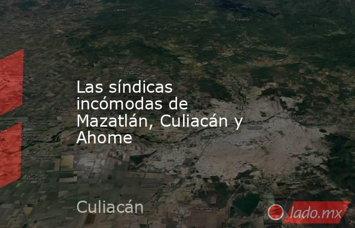 Las síndicas incómodas de Mazatlán, Culiacán y Ahome. Noticias en tiempo real