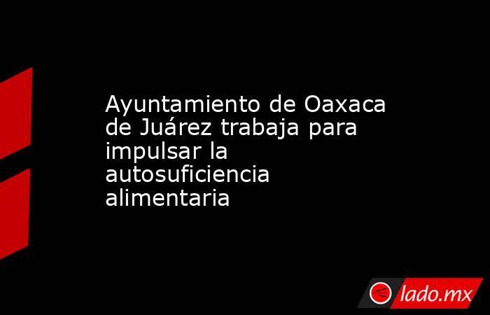 Ayuntamiento de Oaxaca de Juárez trabaja para impulsar la autosuficiencia alimentaria. Noticias en tiempo real