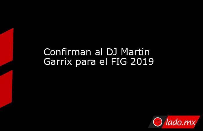 Confirman al DJ Martin Garrix para el FIG 2019. Noticias en tiempo real