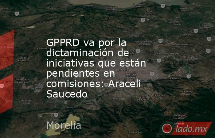 GPPRD va por la dictaminación de iniciativas que están pendientes en comisiones: Araceli Saucedo. Noticias en tiempo real