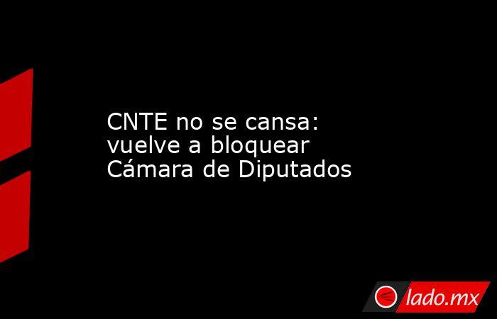 CNTE no se cansa: vuelve a bloquear Cámara de Diputados. Noticias en tiempo real