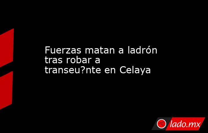 Fuerzas matan a ladrón tras robar a transeu?nte en Celaya. Noticias en tiempo real