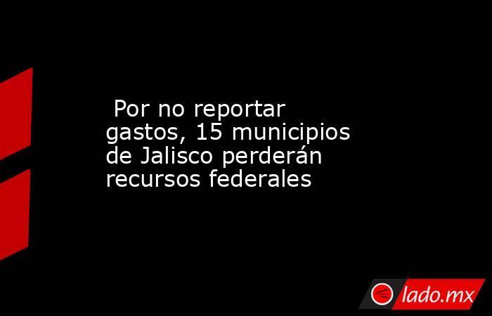 Por no reportar gastos, 15 municipios de Jalisco perderán recursos federales. Noticias en tiempo real