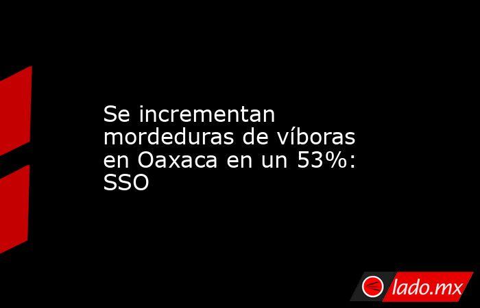 Se incrementan mordeduras de víboras en Oaxaca en un 53%: SSO. Noticias en tiempo real