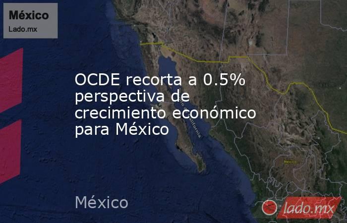 OCDE recorta a 0.5% perspectiva de crecimiento económico para México. Noticias en tiempo real