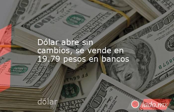 Dólar abre sin cambios, se vende en 19.79 pesos en bancos. Noticias en tiempo real