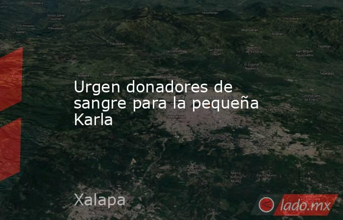 Urgen donadores de sangre para la pequeña Karla. Noticias en tiempo real