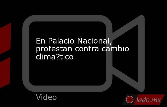 En Palacio Nacional, protestan contra cambio clima?tico. Noticias en tiempo real