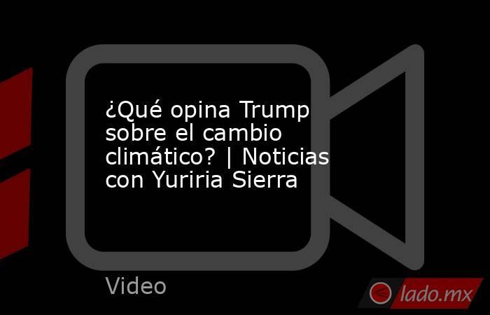 ¿Qué opina Trump sobre el cambio climático? | Noticias con Yuriria Sierra. Noticias en tiempo real