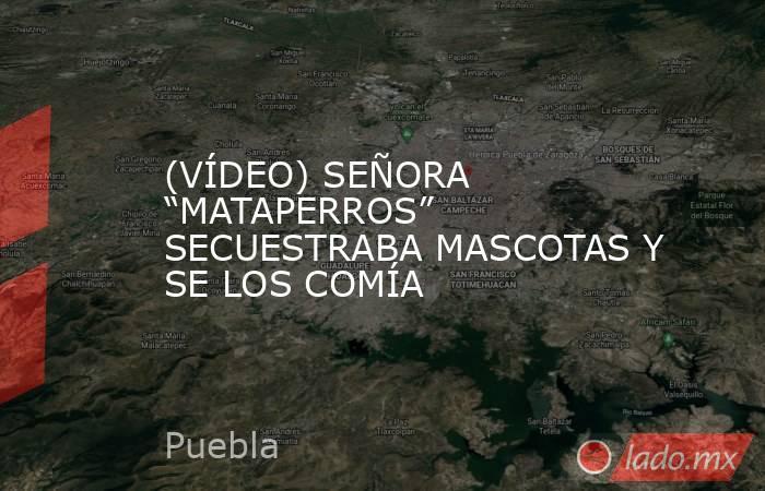 """(VÍDEO) SEÑORA """"MATAPERROS"""" SECUESTRABA MASCOTAS Y SE LOS COMÍA. Noticias en tiempo real"""