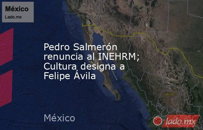 Pedro Salmerón renuncia al INEHRM; Cultura designa a Felipe Ávila. Noticias en tiempo real