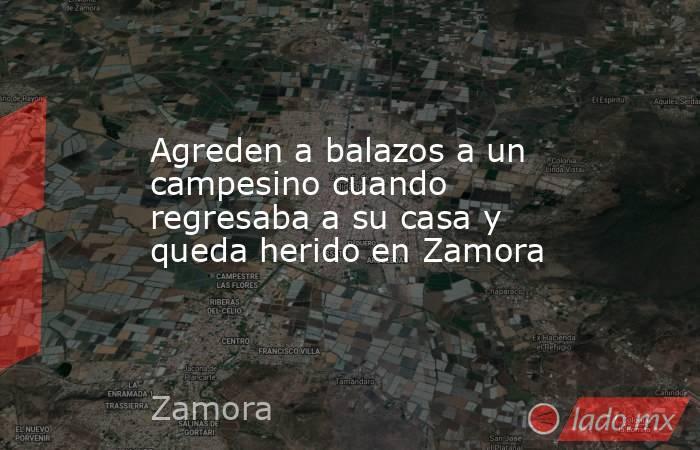 Agreden a balazos a un campesino cuando regresaba a su casa y queda herido en Zamora. Noticias en tiempo real