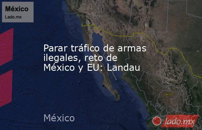 Parar tráfico de armas ilegales, reto de México y EU: Landau. Noticias en tiempo real