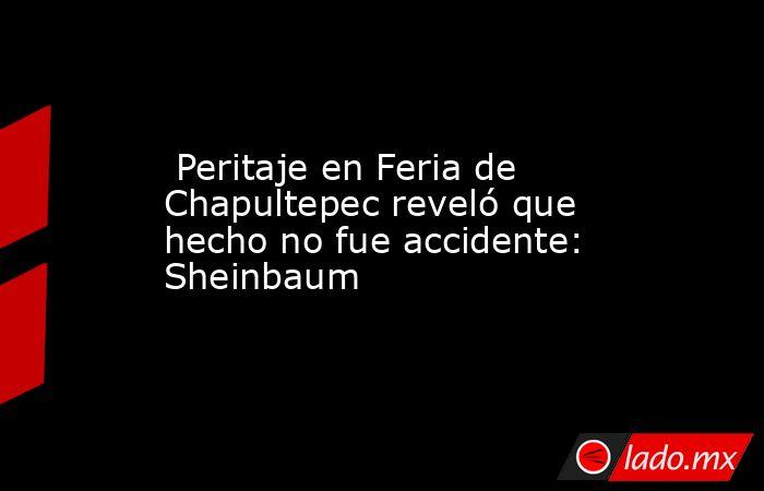 Peritaje en Feria de Chapultepec reveló que hecho no fue accidente: Sheinbaum. Noticias en tiempo real