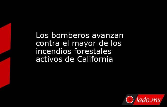 Los bomberos avanzan contra el mayor de los incendios forestales activos de California. Noticias en tiempo real
