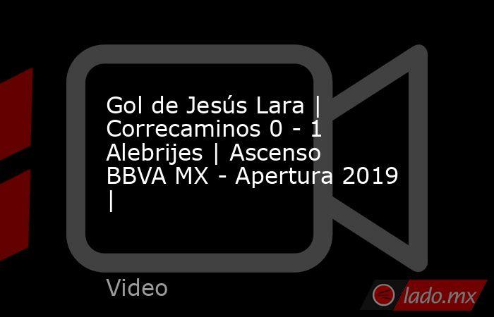 Gol de Jesús Lara | Correcaminos 0 - 1 Alebrijes | Ascenso BBVA MX - Apertura 2019 |. Noticias en tiempo real