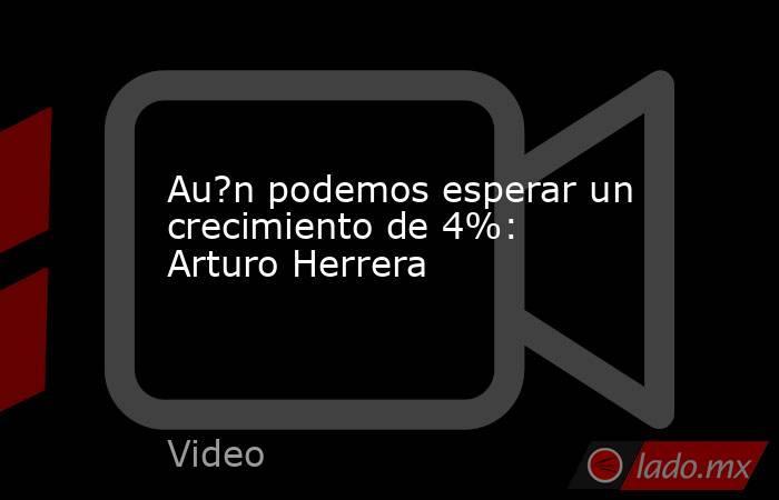 Au?n podemos esperar un crecimiento de 4%: Arturo Herrera. Noticias en tiempo real