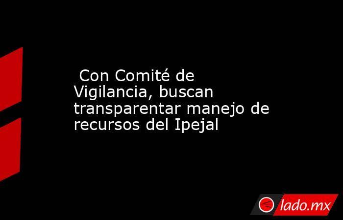 Con Comité de Vigilancia, buscan transparentar manejo de recursos del Ipejal. Noticias en tiempo real
