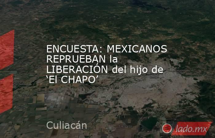 ENCUESTA: MEXICANOS REPRUEBAN la LIBERACIÓN del hijo de 'El CHAPO'. Noticias en tiempo real