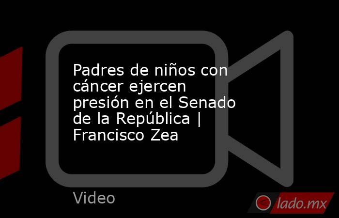 Padres de niños con cáncer ejercen presión en el Senado de la República | Francisco Zea. Noticias en tiempo real
