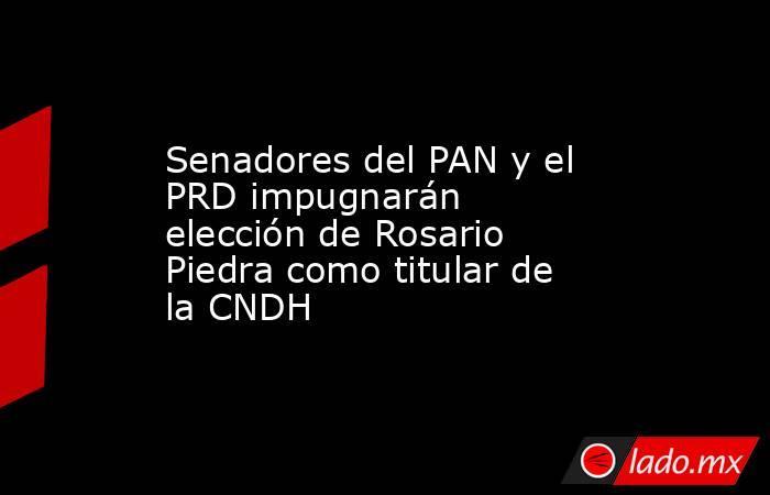 Senadores del PAN y el PRD impugnarán elección de Rosario Piedra como titular de la CNDH. Noticias en tiempo real