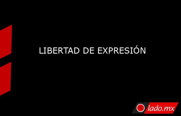 LIBERTAD DE EXPRESIÓN. Noticias en tiempo real