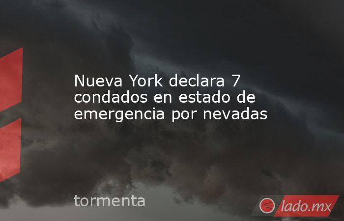 Nueva York declara 7 condados en estado de emergencia por nevadas. Noticias en tiempo real