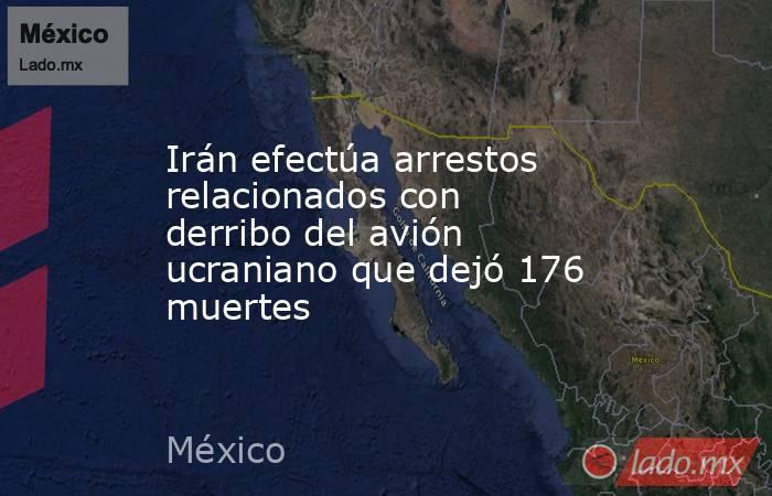 Irán efectúa arrestos relacionados con derribo del avión ucraniano que dejó 176 muertes. Noticias en tiempo real