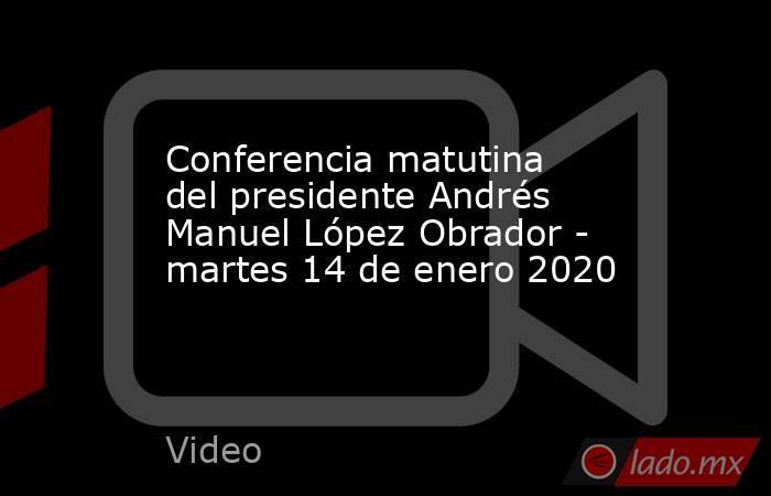 Conferencia matutina del presidente Andrés Manuel López Obrador - martes 14 de enero 2020. Noticias en tiempo real