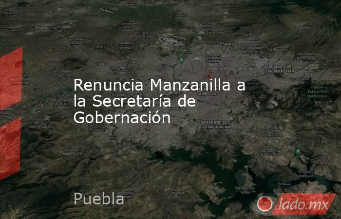 Renuncia Manzanilla a la Secretaría de Gobernación. Noticias en tiempo real