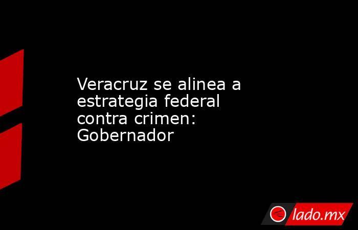 Veracruz se alinea a estrategia federal contra crimen: Gobernador. Noticias en tiempo real