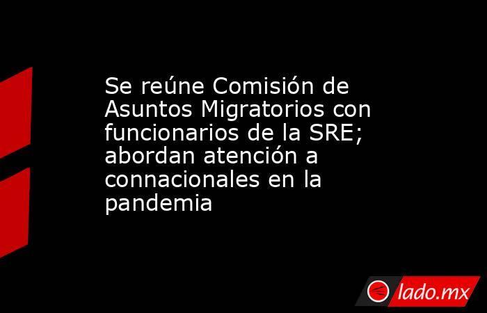 Se reúne Comisión de Asuntos Migratorios con funcionarios de la SRE; abordan atención a connacionales en la pandemia. Noticias en tiempo real