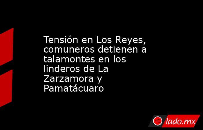 Tensión en Los Reyes, comuneros detienen a talamontes en los linderos de La Zarzamora y Pamatácuaro. Noticias en tiempo real