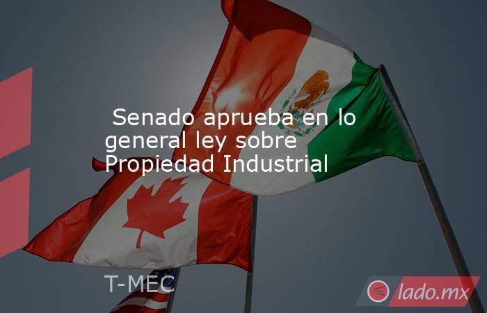 Senado aprueba en lo general ley sobre Propiedad Industrial. Noticias en tiempo real
