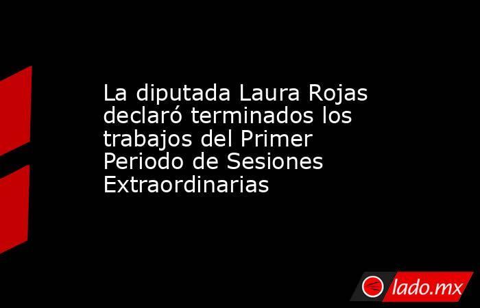 La diputada Laura Rojas declaró terminados los trabajos del Primer Periodo de Sesiones Extraordinarias. Noticias en tiempo real