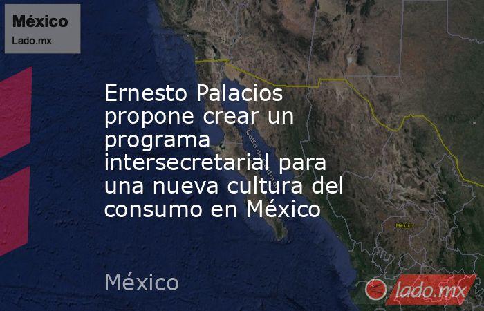 Ernesto Palacios propone crear un programa intersecretarial para una nueva cultura del consumo en México. Noticias en tiempo real