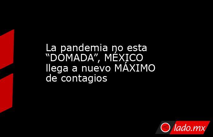 """La pandemia no esta """"DOMADA"""", MÉXICO llega a nuevo MÁXIMO de contagios. Noticias en tiempo real"""