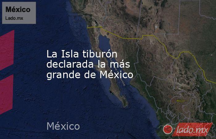 La Isla tiburón declarada la más grande de México. Noticias en tiempo real