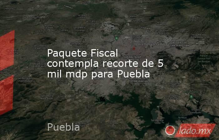 Paquete Fiscal contempla recorte de 5 mil mdp para Puebla. Noticias en tiempo real