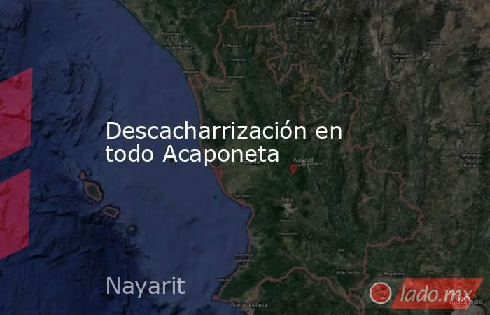 Descacharrización en todo Acaponeta. Noticias en tiempo real