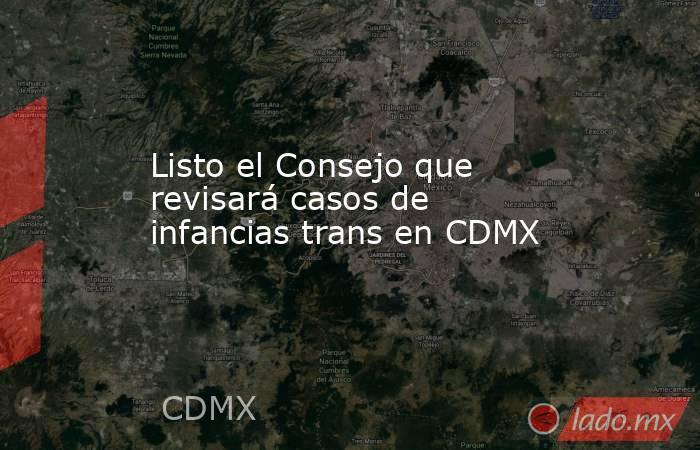 Listo el Consejo que revisará casos de infancias trans en CDMX. Noticias en tiempo real