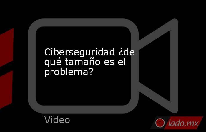 Ciberseguridad ¿de qué tamaño es el problema?. Noticias en tiempo real