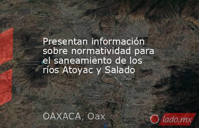 Presentan información sobre normatividad para el saneamiento de los ríos Atoyac y Salado. Noticias en tiempo real