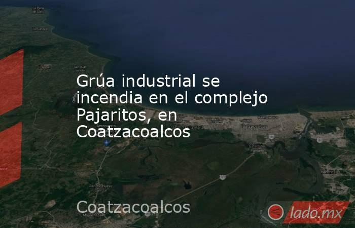 Grúa industrial se incendia en el complejo Pajaritos, en Coatzacoalcos. Noticias en tiempo real